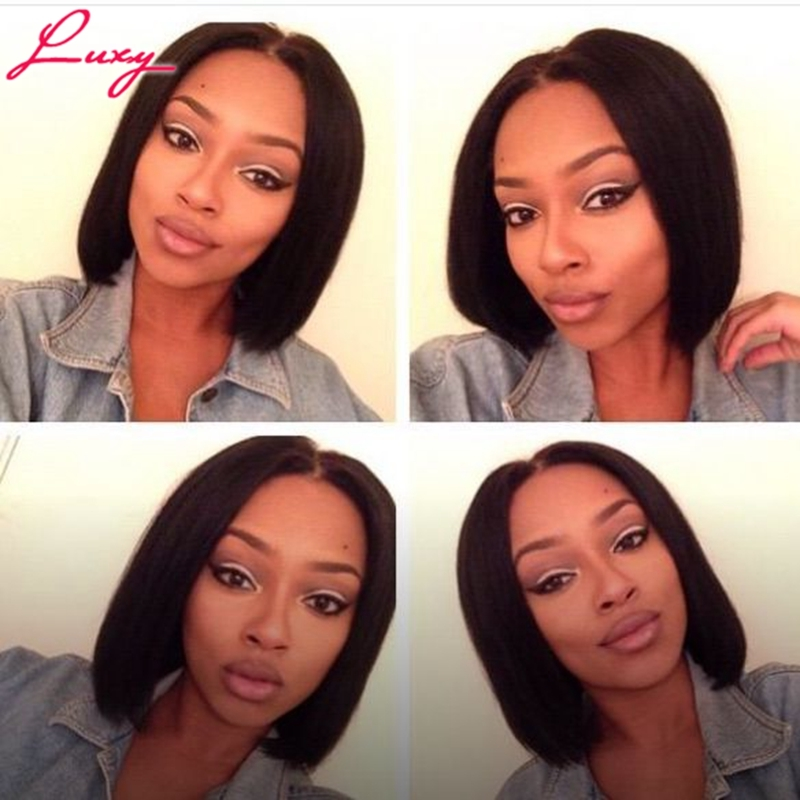 72.74$  Watch now - http://alib33.worldwells.pw/go.php?t=32719417151 - 130%Density Glueless Lace Front Human Hair Wigs For Black Women Wavy Wig&Full Lace Human Hair Wigs With Baby Hair