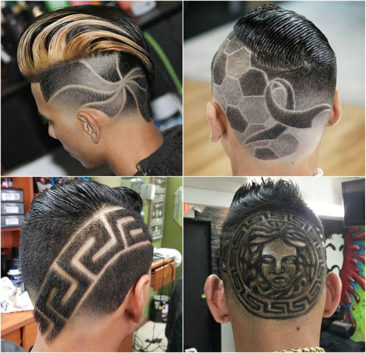 Muster Einrasiert Fussball Linien Aufwandige Muster Hairstyles Tattoo Kurze Lockige Haare Stylen Lockige Haare Stylen Haarkunst