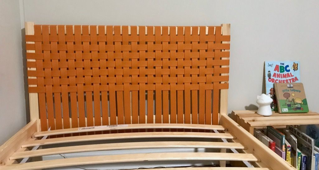 Upholster Your Headboard With Woven Canvas Ikea Hackers Ikea