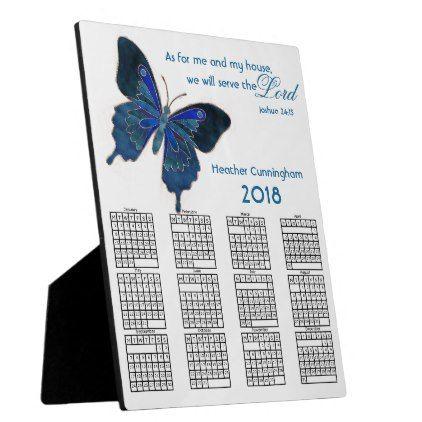 2018 Personalized Desk Plaque Calendar - diy cyo customize create