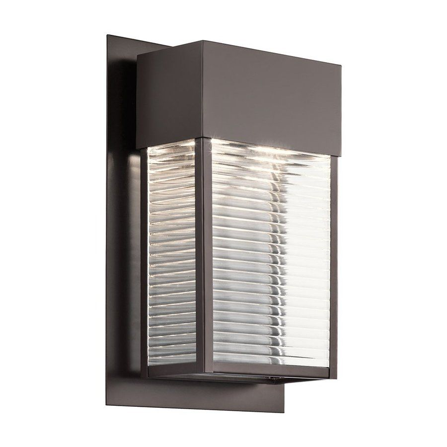 Kichler lighting sorel in h led architectural bronze outdoor wall