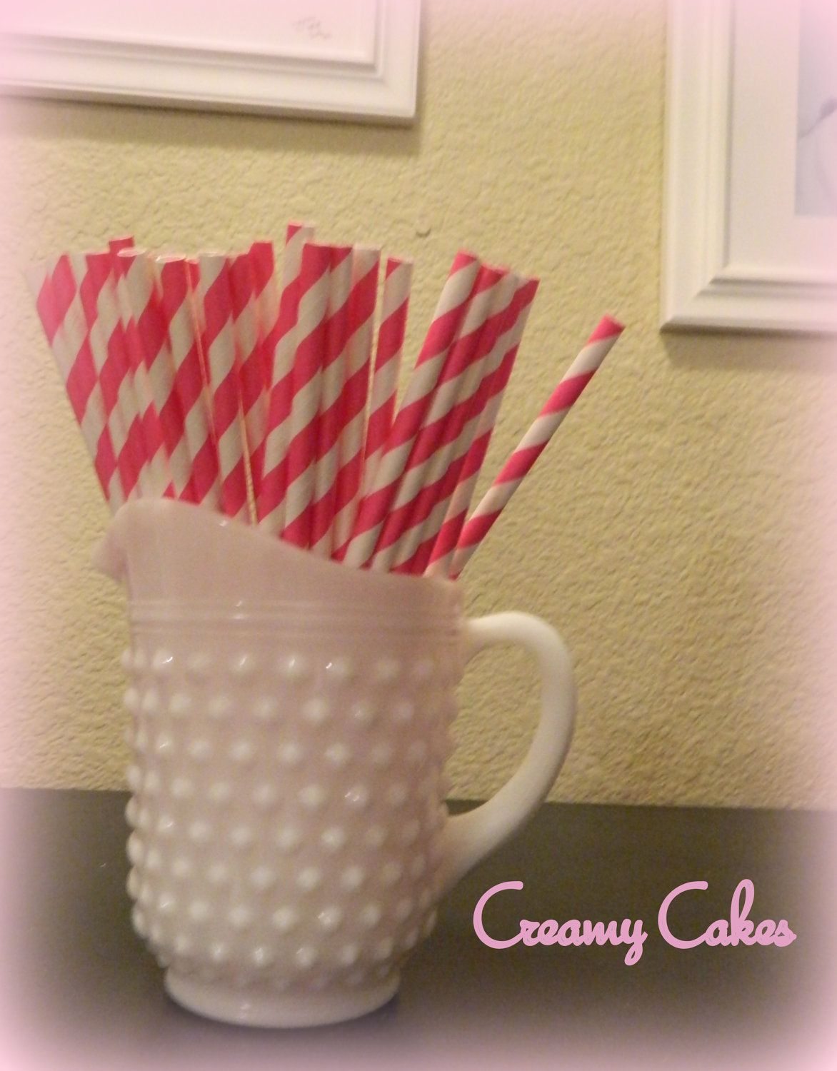 Hello Kitty Pink Stripe Paper Straws (25 ct)-Hello Kitty Birthday-Hello Kitty Party-Pink Party. $3.50, via Etsy.