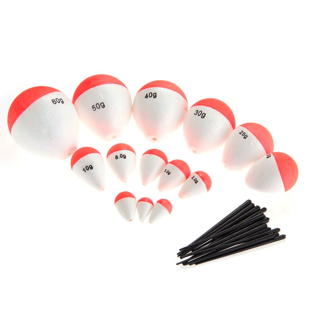 14 Pcs//Set Fishing Floats Sea Fish Float with Sticks Fishing Tackle Accessories