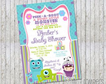 monsters inc invitations baby shower Etsy baby shower