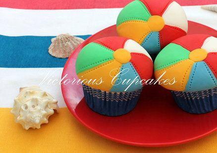 Beach Ball Cupcakes So Cute For A Pool Party Cupcakes Beach