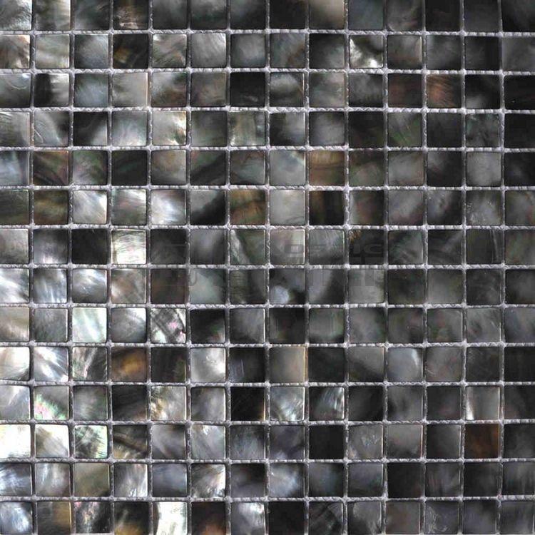 Natural Black Mother Of Pearl Tiles Luxury Tiles For Kitchen Backsplash Shell Mosaic Tiles Black Color Pearl Tile Mosaic Bathroom Tile Mosaic Tile Backsplash
