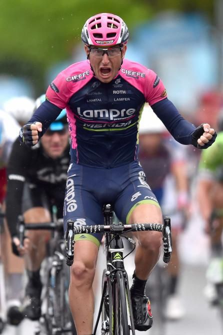 Sacha Modolo wins stage 13 of the Giro d'Italia (Getty Images)