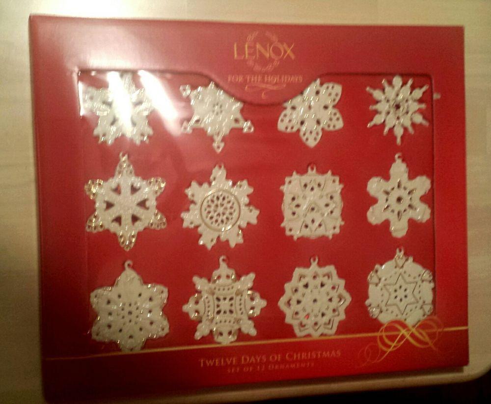Christmas Set 12 Snowflake Ornaments
