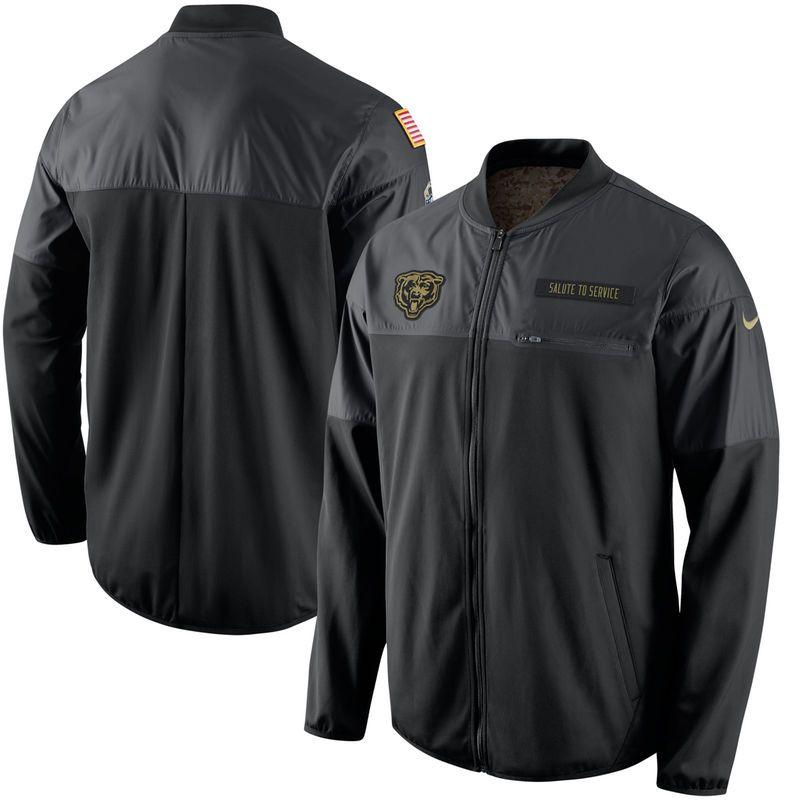 c73833818 Chicago Bears Nike Salute to Service Hybrid Performance Jacket - Black