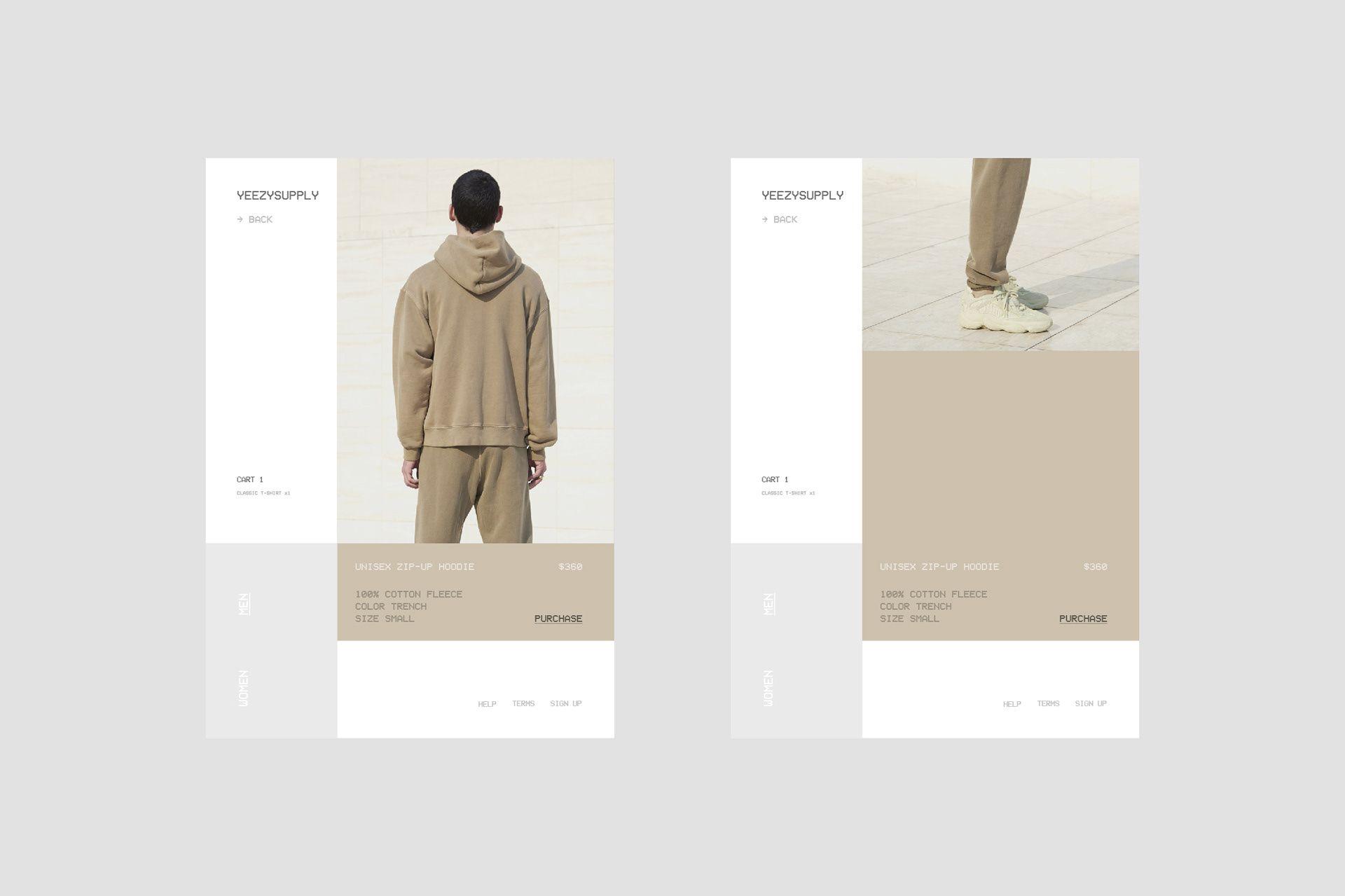 Yeezy Supply - Web Design on Behance