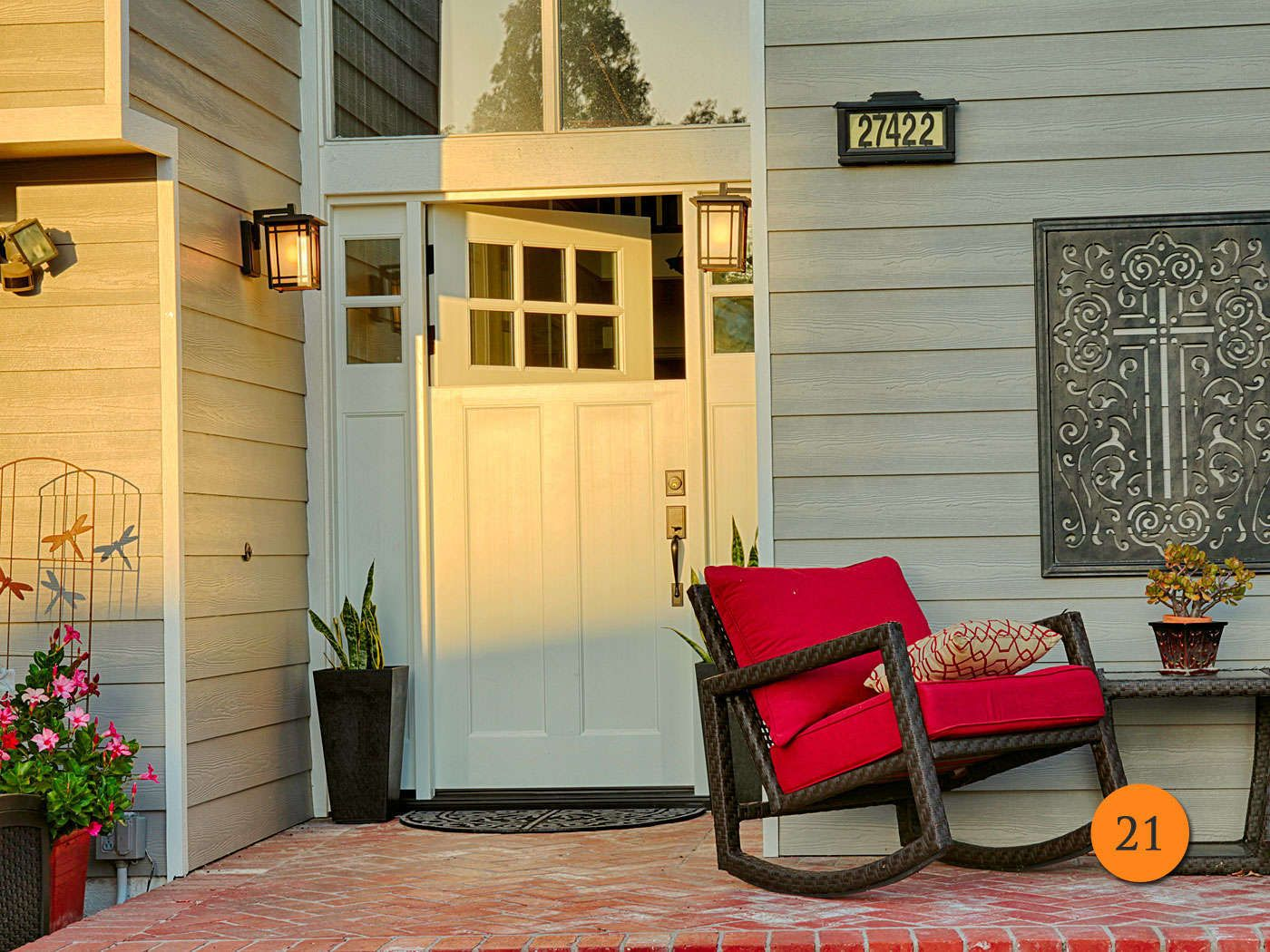 After: Craftsman Style Dutch Door With 2 Sidelites In 5 Ft Wide Entry. 6