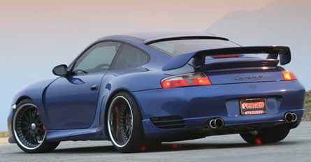 Porsche 996 Gt2m Wing On Blue Carrera Wide Body Porsche Porsche
