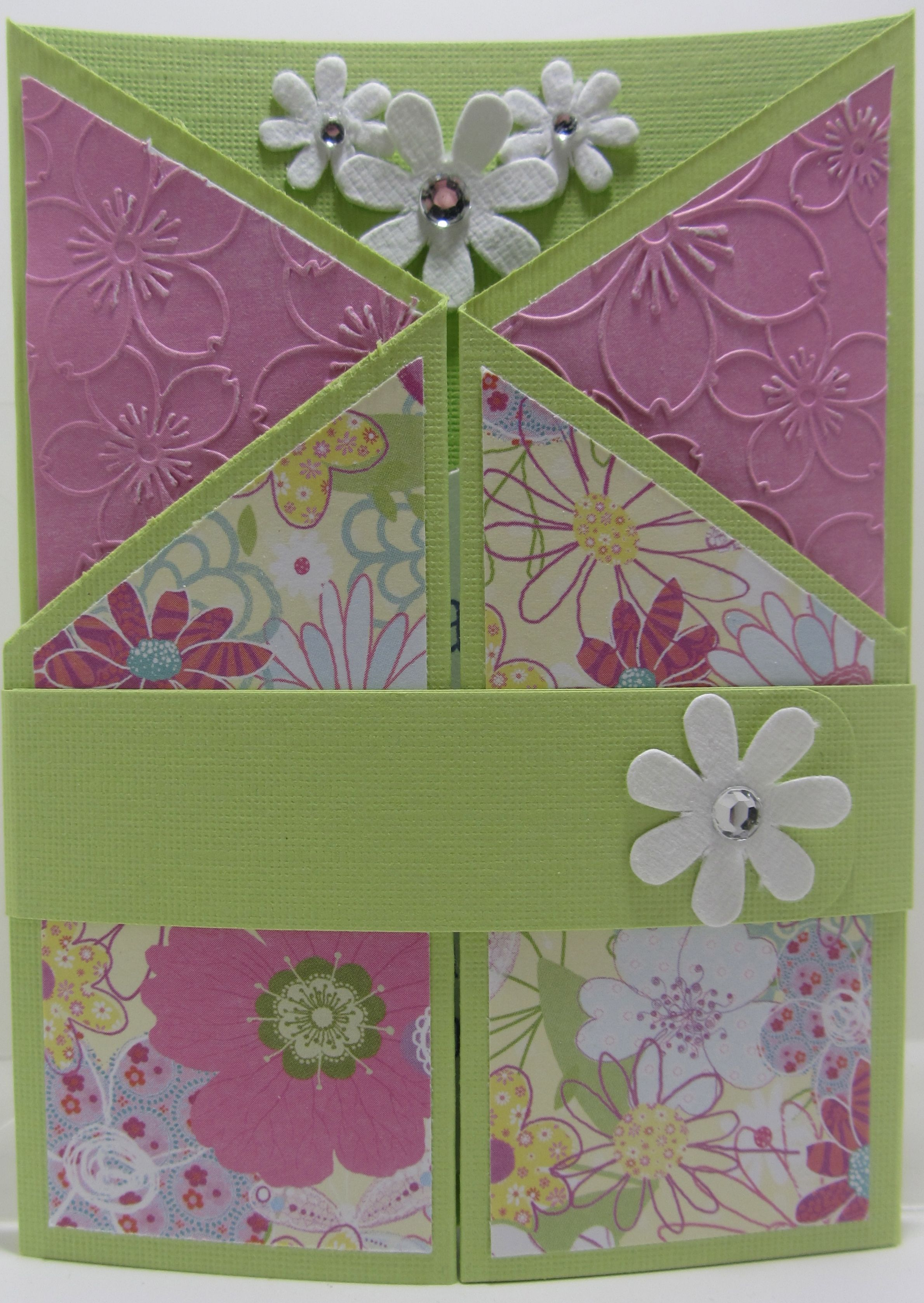 Double Gate Fold Birthday Card Cards Pinterest Cards Shaped