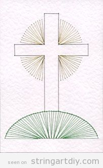 Cross on hill String Art free pattern to download | Crafting Ideas ...