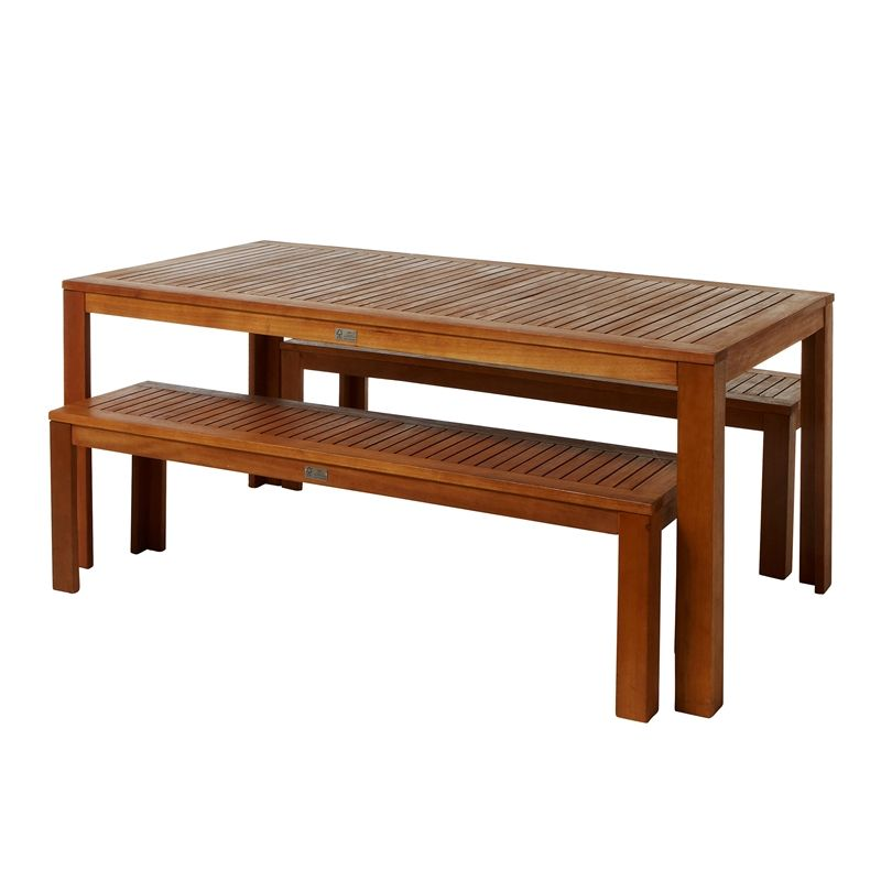 Mimosa 3pc Timber Bench Setting I N 3190846 Bunnings Warehouse