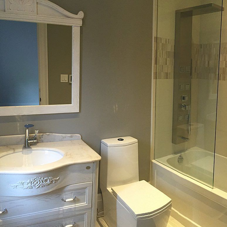 Functional and quality made vanities for all sizes of bathrooms! #LeasideProject #smallbathrooms  #designing #design #bathroomideas #bathroom #bath #home #life #homedecor #designer #design #decor #decorator #builder #interiors #interiordesign #bathroomvanity #beautiful #godibathroom by dezignmarket Bathroom designs.