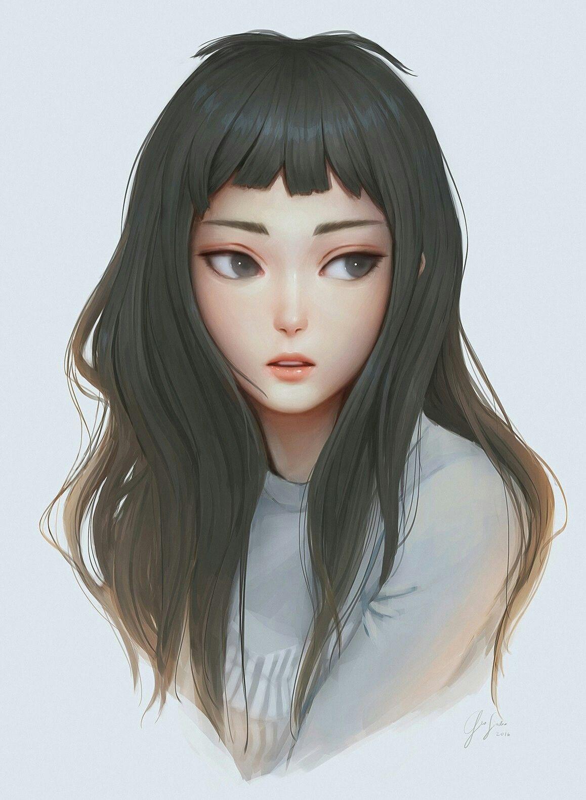 Art Grey White Digital Art Girl Digital Portrait Art Art Girl