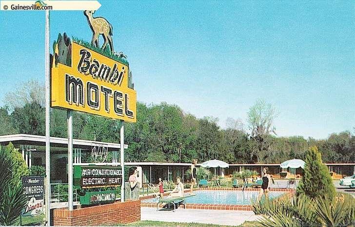 Bambi Motel, Gainesville, FL US HWY 441 | Florida | Motel