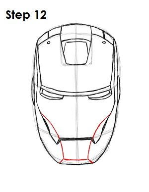 How To Draw Iron Man Step 12 Iron Man Art Iron Man Drawing Iron Man Drawing Easy