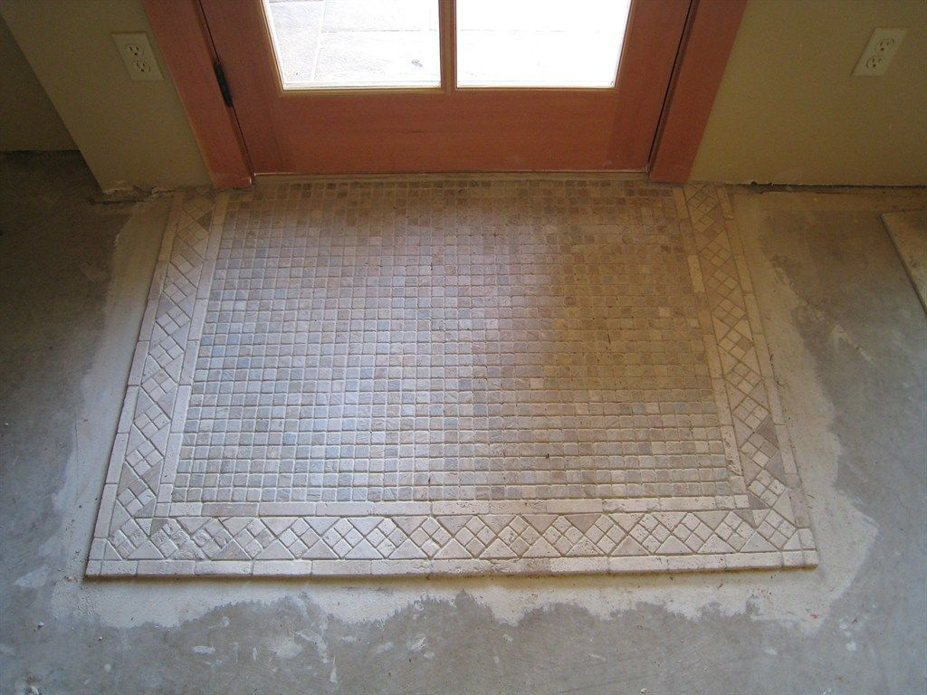 Transition tile to wood entry way google search for Tile designs for entryways