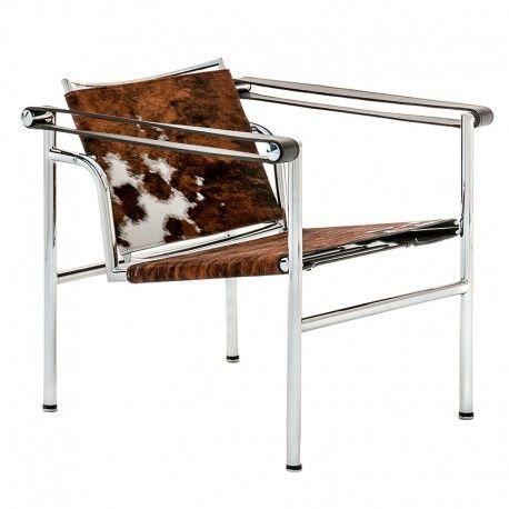 Design Stühle Klassiker le corbusier lc1 sessel in ponyfell design klassiker steelform
