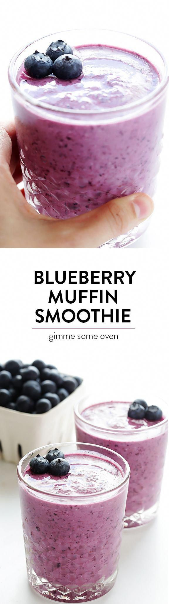 Photo of Blueberry Muffin Smoothie Recipe — made with fresh and healthy ingredients, and…