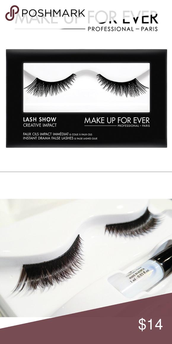 a6254bb5497 Lash Show Creative Impact - c-706 False lashes and glue. Makeup Forever Makeup  False Eyelashes