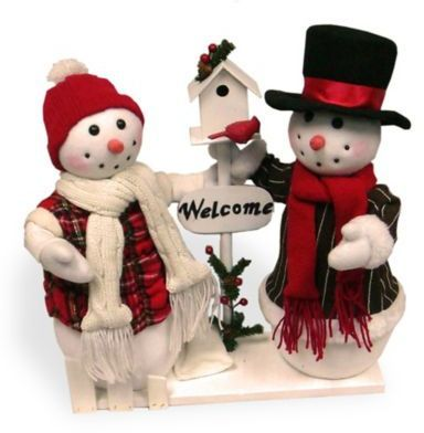 National Tree Company National Tree Plush Collection Snowman Pair Display
