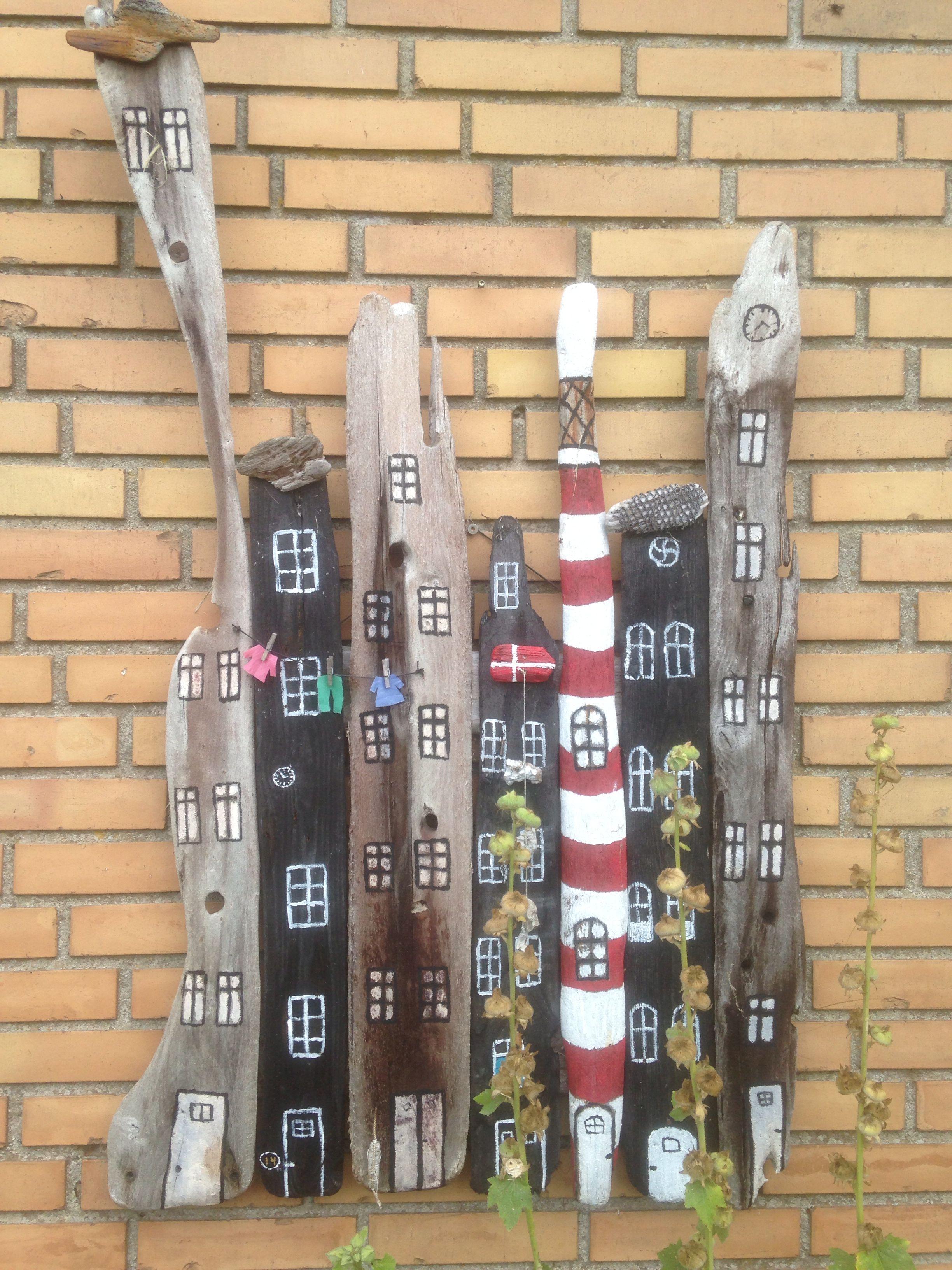 Garten Wanddeko treibholz stadt garten oder wanddeko holz painted