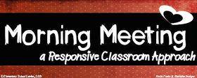 Elementary School Garden: Morning Meeting - A Responsive Classroom Approach