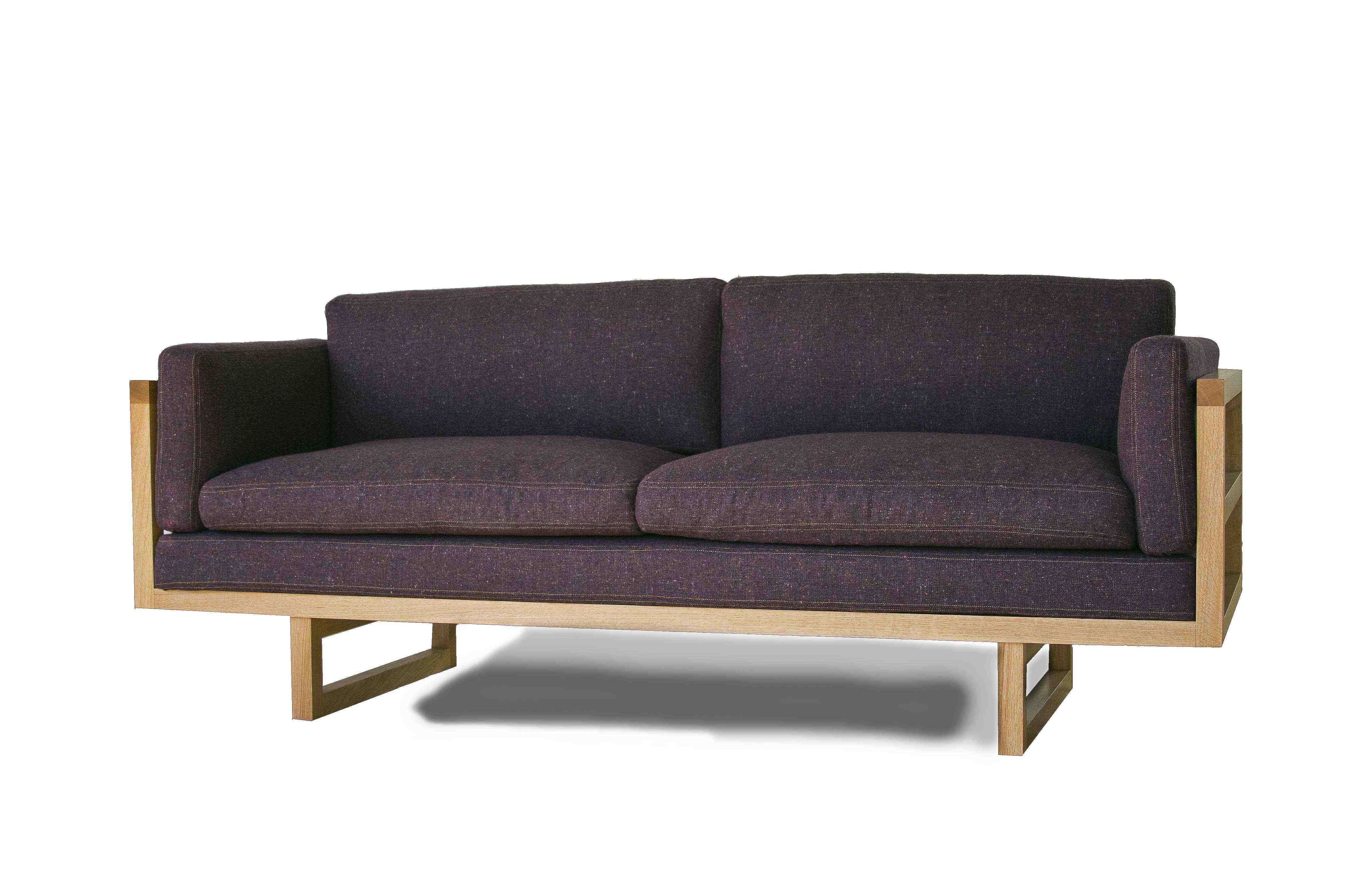 Superb Oak Framed Sofa By Ou0027Driscoll Furniture, Upholstered In Donegal Irish Tweed  Woven