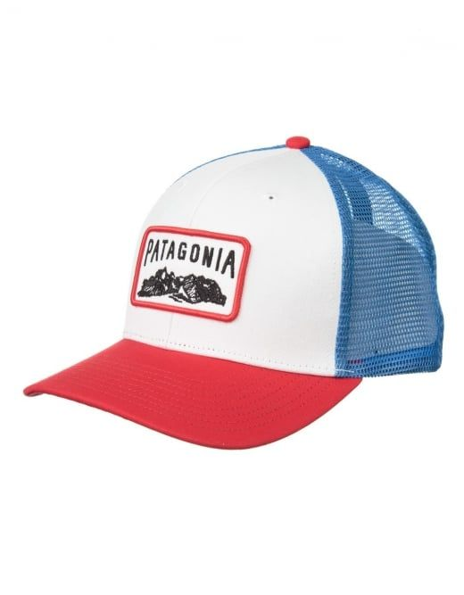 Patagonia Climb A Mountain Trucker Hat - White Totally Red  dcda205e8b9c