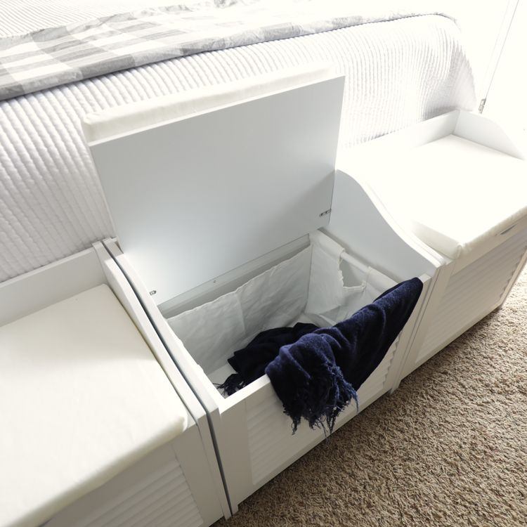 small bedroom laundry storage benches  storage bench