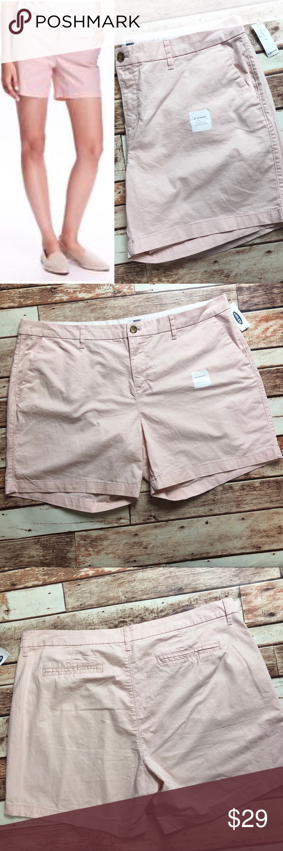 "Old Navy Light Pink 5"" inseam shorts NWT"