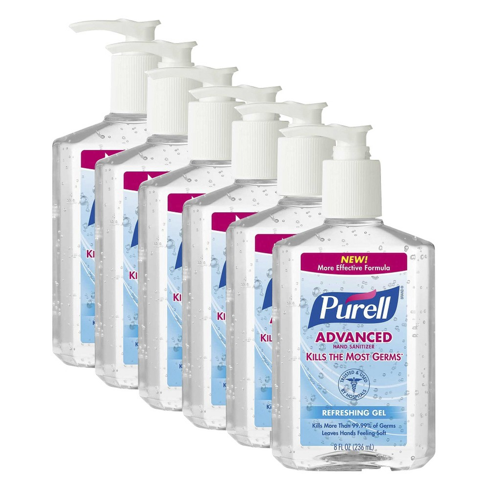 Purell Advanced Hand Sanitizer Refereshing Gel 8 Fl Oz 6 Pack