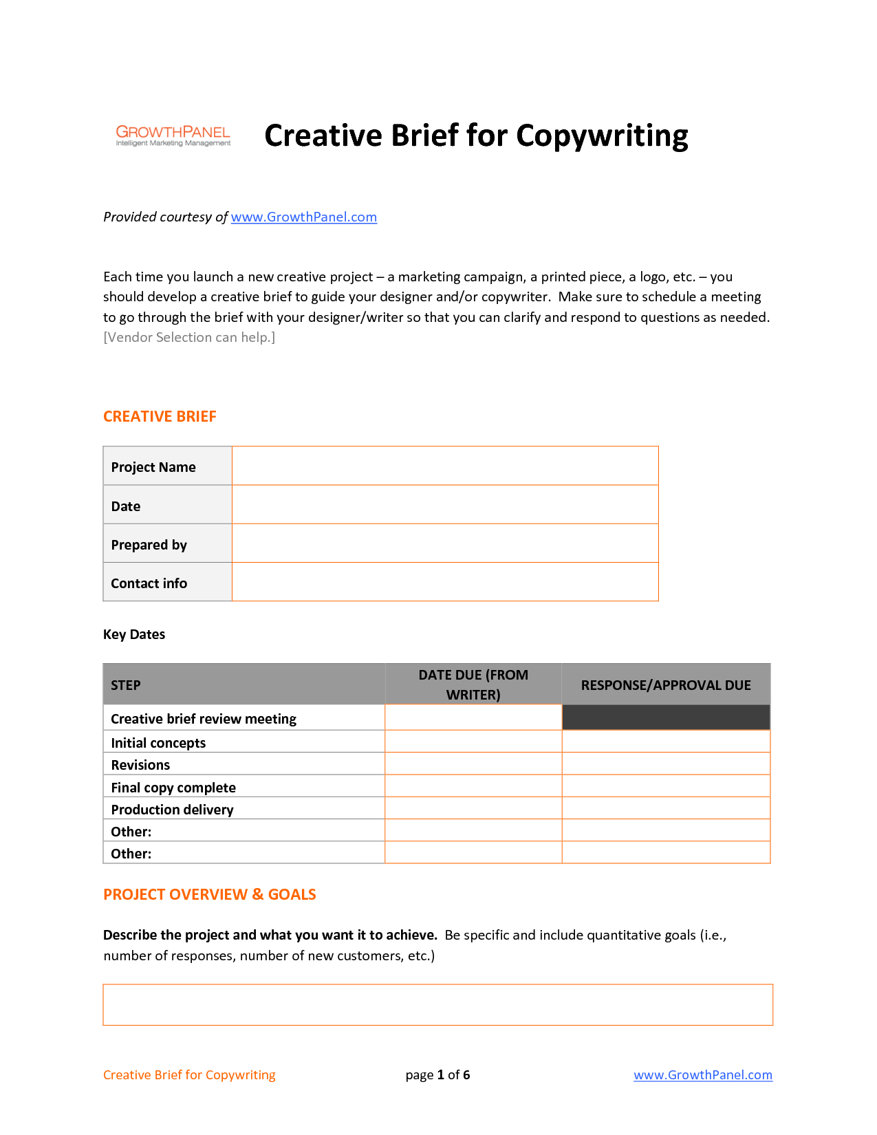 meeting brief template