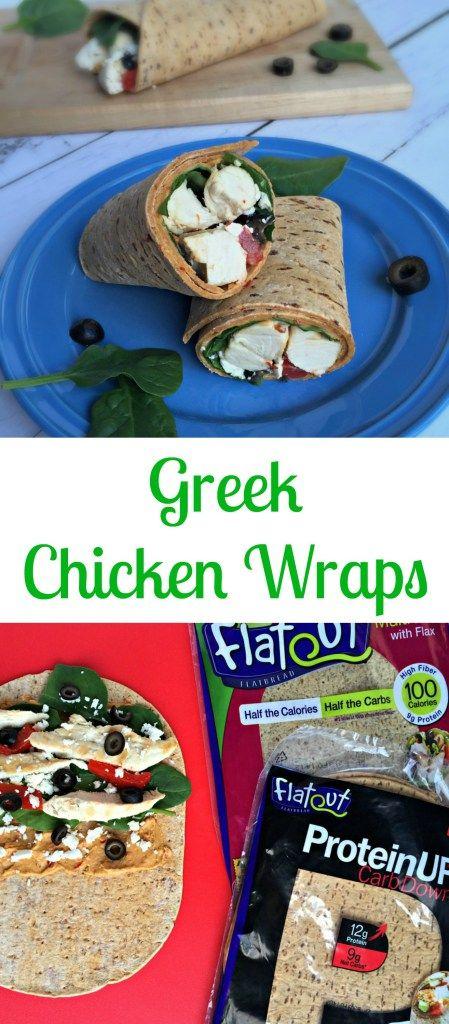 Greek Chicken Wrap Flatout flatbread
