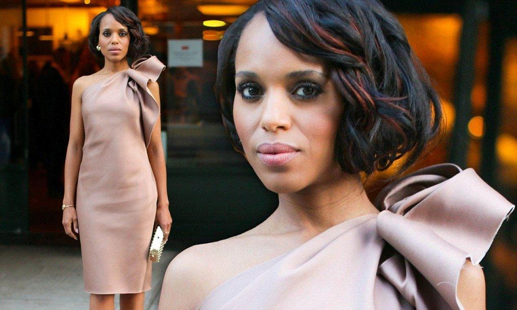 No wonder his wife's annoyed! Kerry Washington looks her sultry best as co- star
