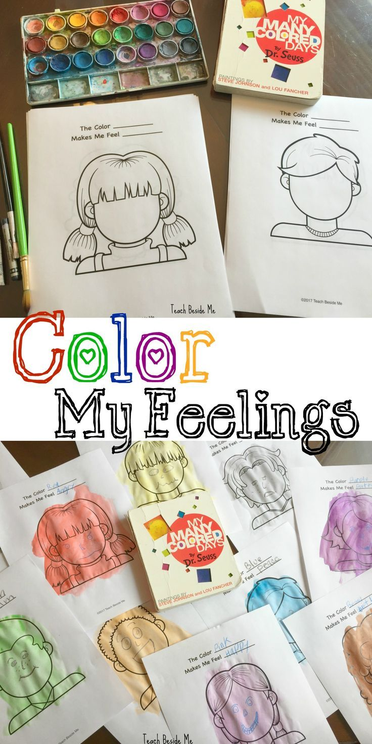 Color my feelings my many colored days emotions
