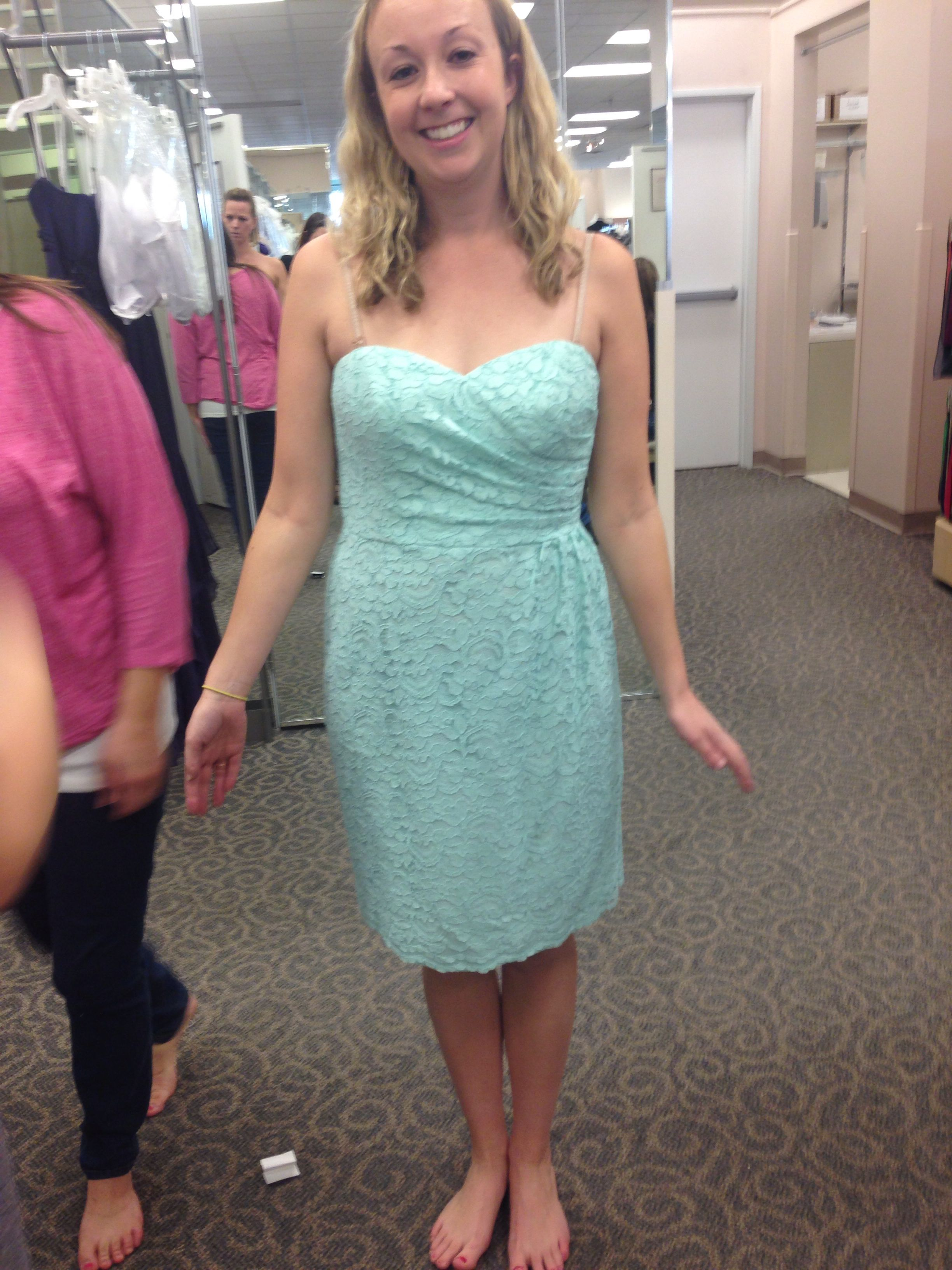 The bridesmaid dress