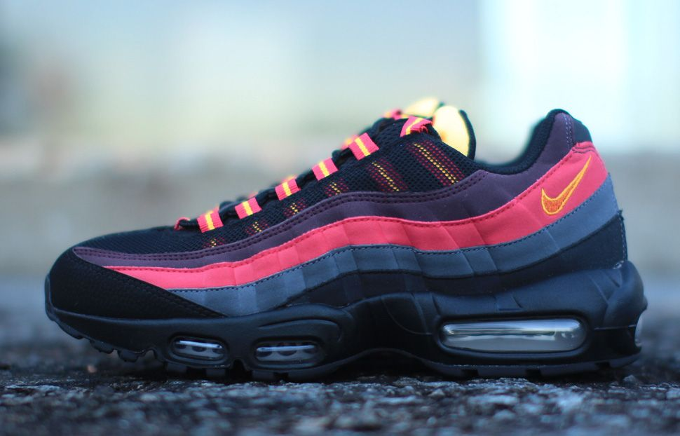 nike air max 95 black yellow red and blue
