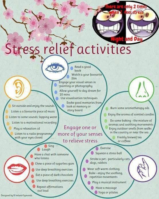 stress management worksheets   Stress relief activities