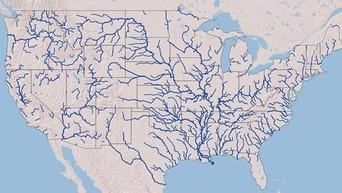 All The Rivers In The United States On A Single Beautiful - Map-of-all-the-rivers-in-the-us
