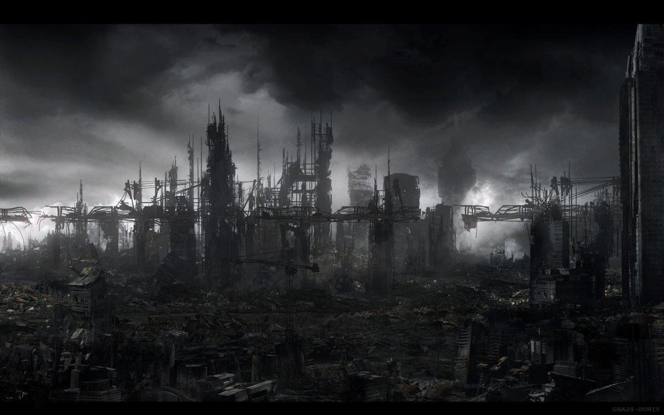Destroyed City Backgrounds Wallpaper Cave Post Apocalyptic City Post Apocalyptic Dark City