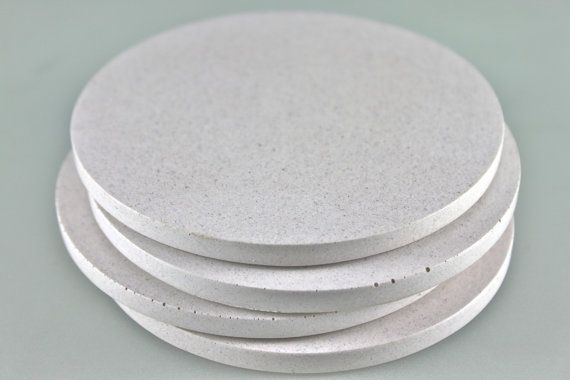Concrete Coasters Refined White by Culinarium on Etsy