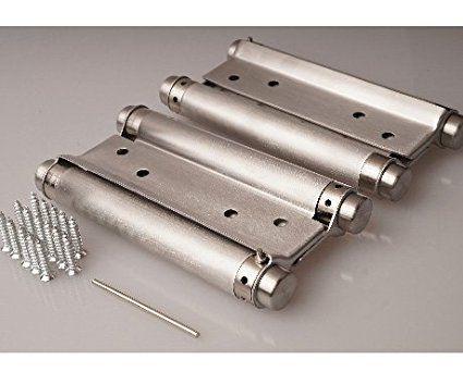 2 X PENDELTÜRBAND EDELSTAHL 75 mm rostfrei massiv Türband Scharniere Schwingtür