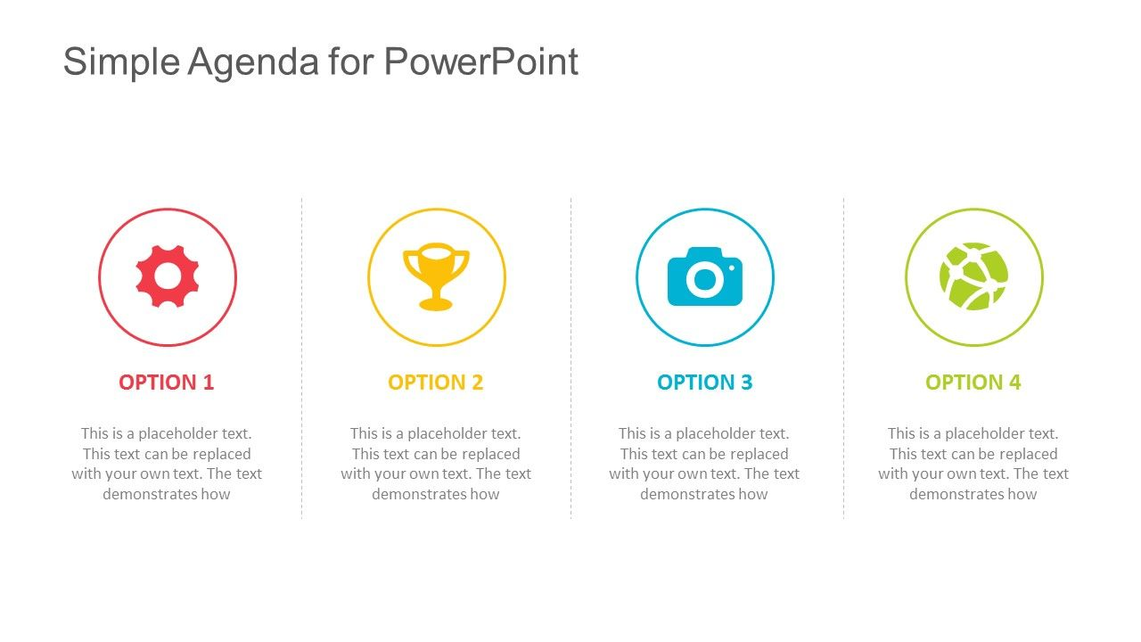 Gallery Ids Simple Agenda Template For Powerpoint Fully