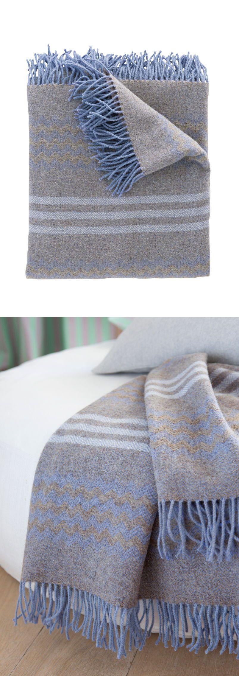 Wolldecke Blau Grau Blau Grau Wolldecke Und Teppich Grun
