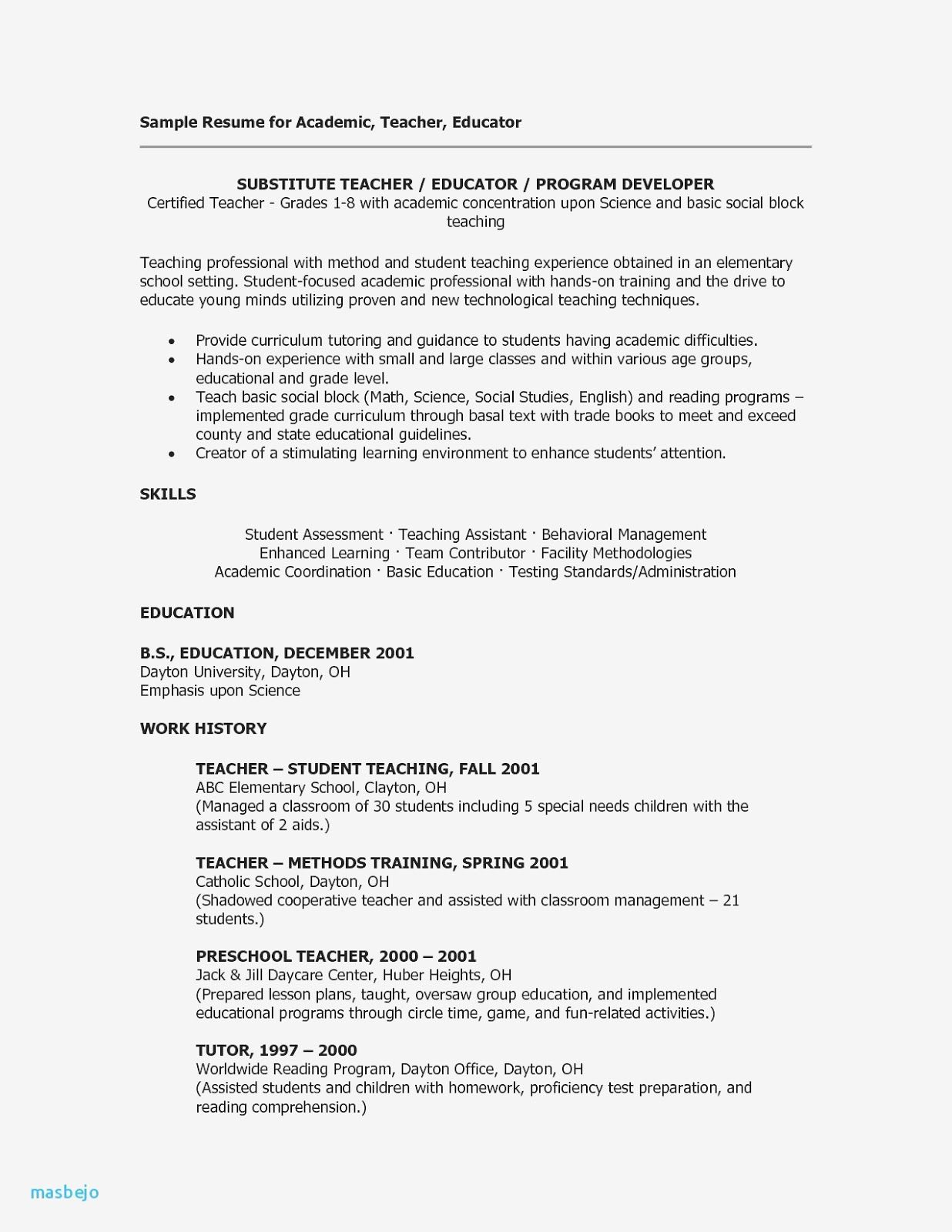 Teacher Assistant Resume Sample Teacher Assistant Resume Sample With No Experie Special Education Worksheets Education Kindergarten Special Education Students