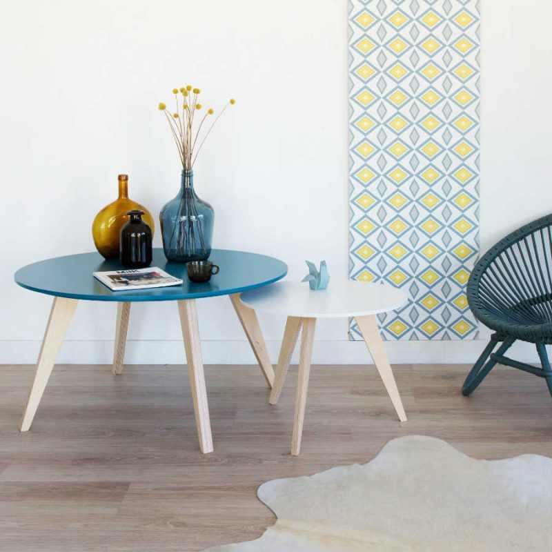 tables basses clementine bleu p trole 20 tables basses pour un salon design pinterest. Black Bedroom Furniture Sets. Home Design Ideas